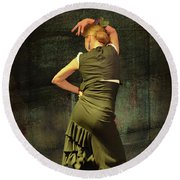 Flamenco #21 - Attitude Round Beach Towel