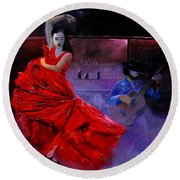 Flamenco 88 Round Beach Towel
