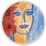Flamenco Nights - Alicia Round Beach Towel