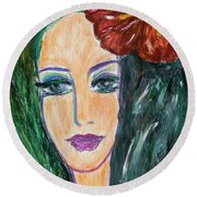 Flamenco Nights - Madalena Round Beach Towel