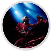 Flamenco Performance Round Beach Towel by Richard Young