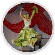 Flamenco Show Nr 2 Round Beach Towel