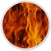 Flames Round Beach Towel