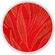 Flamework Round Beach Towel