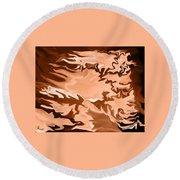 Flaming Horse   -023 Round Beach Towel