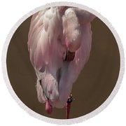 Flamingo -2 Round Beach Towel