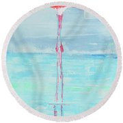 Flamingo 2  Round Beach Towel
