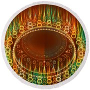 Flamy Round  Round Beach Towel