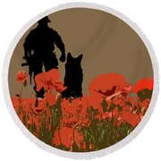 Flanders Fields 11 Round Beach Towel