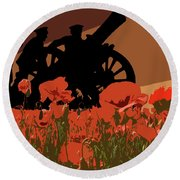 Flanders Fields 1 Round Beach Towel