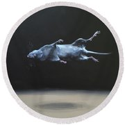 Floating Field Mouse Round Beach Towel