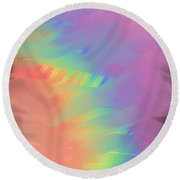 Flavors Round Beach Towel