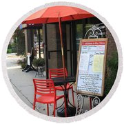 Flemington, Nj - Sidewalk Cafe Round Beach Towel