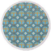 Fleur De Lis Pattern No. 2 Round Beach Towel