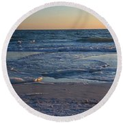 Flickering Lght Round Beach Towel