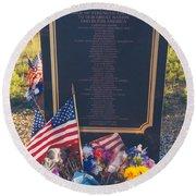 Flight 93 Heros Round Beach Towel