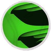 Flight - Green Version Round Beach Towel