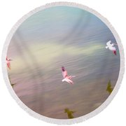 Flight Impressions Round Beach Towel