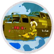Flight Of The Apache Princess Round Beach Towel