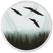 Flight Of The Eagles Round Beach Towel