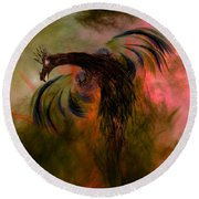 Flight Of The Phoenix Round Beach Towel