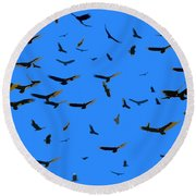 Flight Of The Vultures Round Beach Towel