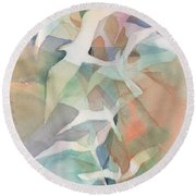 Flight Pattern Round Beach Towel by Carolyn Utigard Thomas