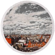 Flight Perspective V2 Round Beach Towel