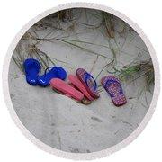 Flip Flops Round Beach Towel