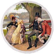Flirtation, C1810 Round Beach Towel
