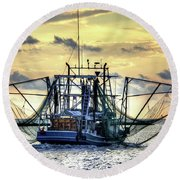Float Like A Butterfly Round Beach Towel