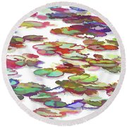 Float On The Water Round Beach Towel