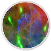 Floating Bubbles # 20 Round Beach Towel