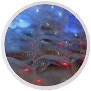 Floating Bubbles # 4 Round Beach Towel