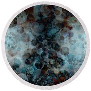 Floating Bubbles Round Beach Towel