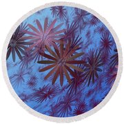 Floating Floral - 001 Round Beach Towel
