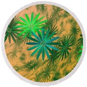 Floating Floral - 004 Round Beach Towel