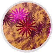 Floating Floral - 005 Round Beach Towel