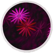 Floating Floral - 006 Round Beach Towel