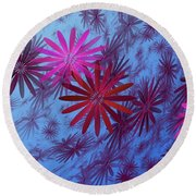 Floating Floral -003 Round Beach Towel