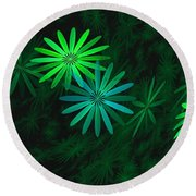 Floating Floral-007 Round Beach Towel