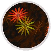 Floating Floral-008 Round Beach Towel