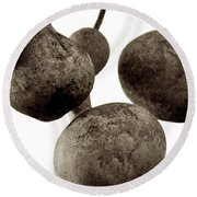 Floating Gourds Round Beach Towel