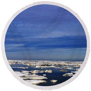 Floating Ice Round Beach Towel