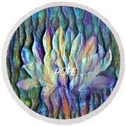 Floating Lotus - Hope Round Beach Towel