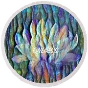 Floating Lotus - Oneness Round Beach Towel