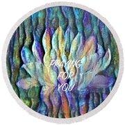 Floating Lotus - Praying For You Round Beach Towel