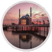 Floating Mosque Round Beach Towel