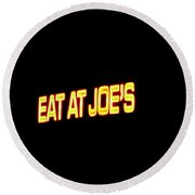 Floating Neon - Eat At Joes Round Beach Towel