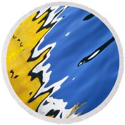 Floating On Blue 33 Round Beach Towel